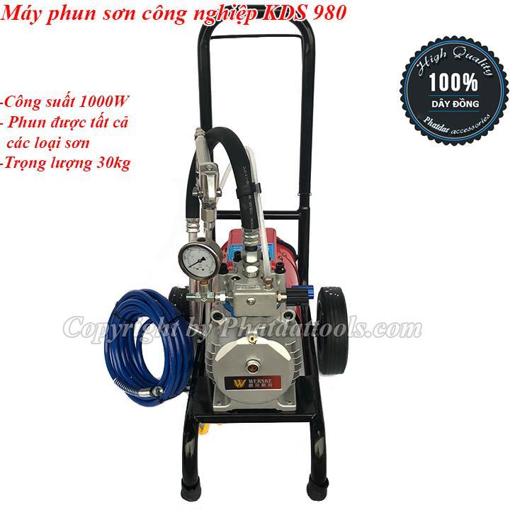 Máy phun sơn công nghiệp KDS 980-Công suất 1000W-Nặng 30kg-Đầy đủ phụ kiện-Bảo hành 6 tháng