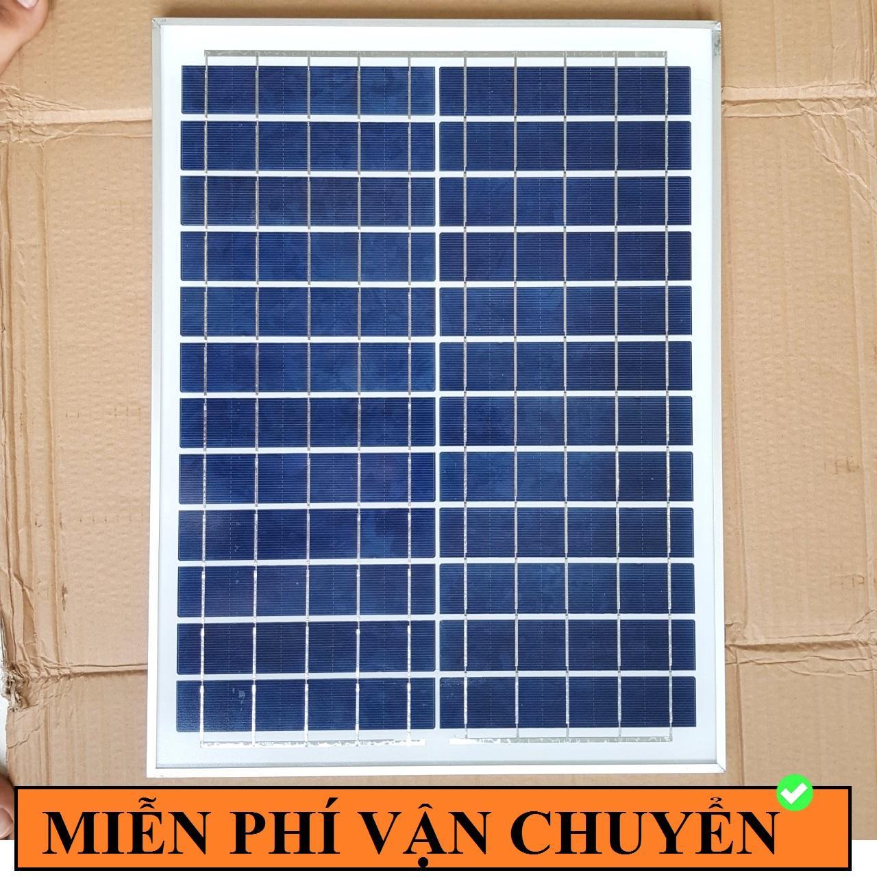 Tấm Pin Năng Lượng Mặt Trời 12V 20W (Khung Nhôm)
