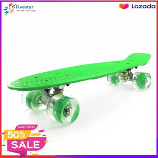 Ván trượt Skateboard bánh xe có đèn Led trục kim loại cao cấp cho bé (kích thước 56x10x13 cm) thumbnail