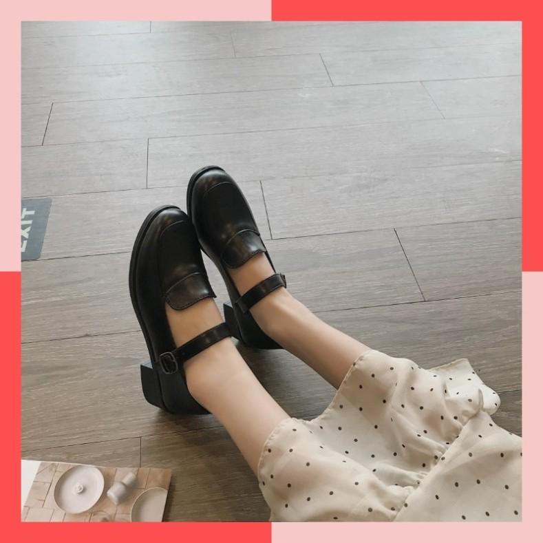 Giày da nữ phong cách tiểu thư đáng yêu giá rẻ