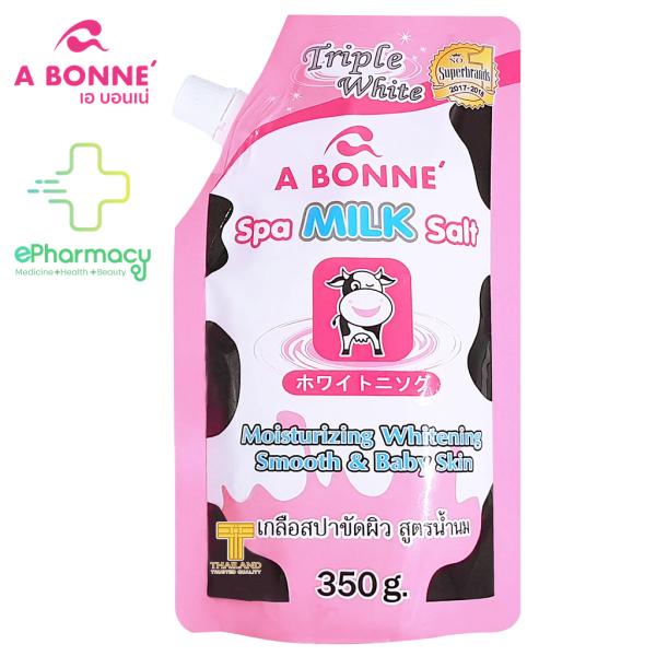 Muối Tắm Tẩy Tế Bào Chết A Bonné Triple White Spa Milk sữa bò giảm mụn lưng Thái Lan 350g