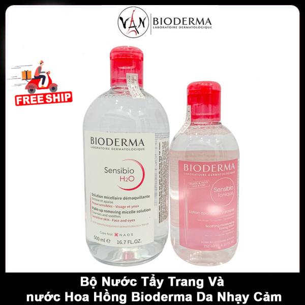 [ Combo Bioderma ]  Nước tẩy trang sensibio H20 500ml & nước hoa hồng sensibio tonique 250ml dành cho da thường, da nhạy cảm