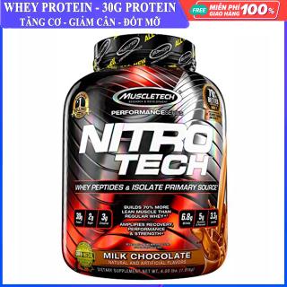 Sữa tăng cơ cực mạnh Whey Protein Nitro Tech của MuscleTech hộp 1.8kg hỗ trợ tăng cơ giảm cân, giảm mỡ bụng, tăng sức bền sức mạnh vượt trội cho người tập GYM và chơi thể thao thumbnail