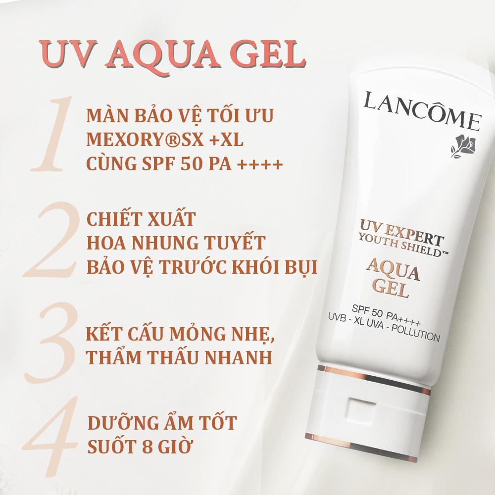 Kem chống nắng dạng gel tươi mát Lancome UV Expert AQUA GEL SPF50 PA++++ 30ml