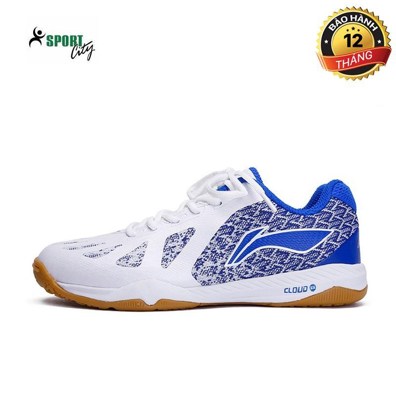 Giày bóng bàn Nam Lining APP003-3 mẫu mới trọng lượng nhẹ, bám sân tốt dành cho nam màu trắng xanh đủ size - giày thể thao nam - giày chơi bóng bàn - sportcity