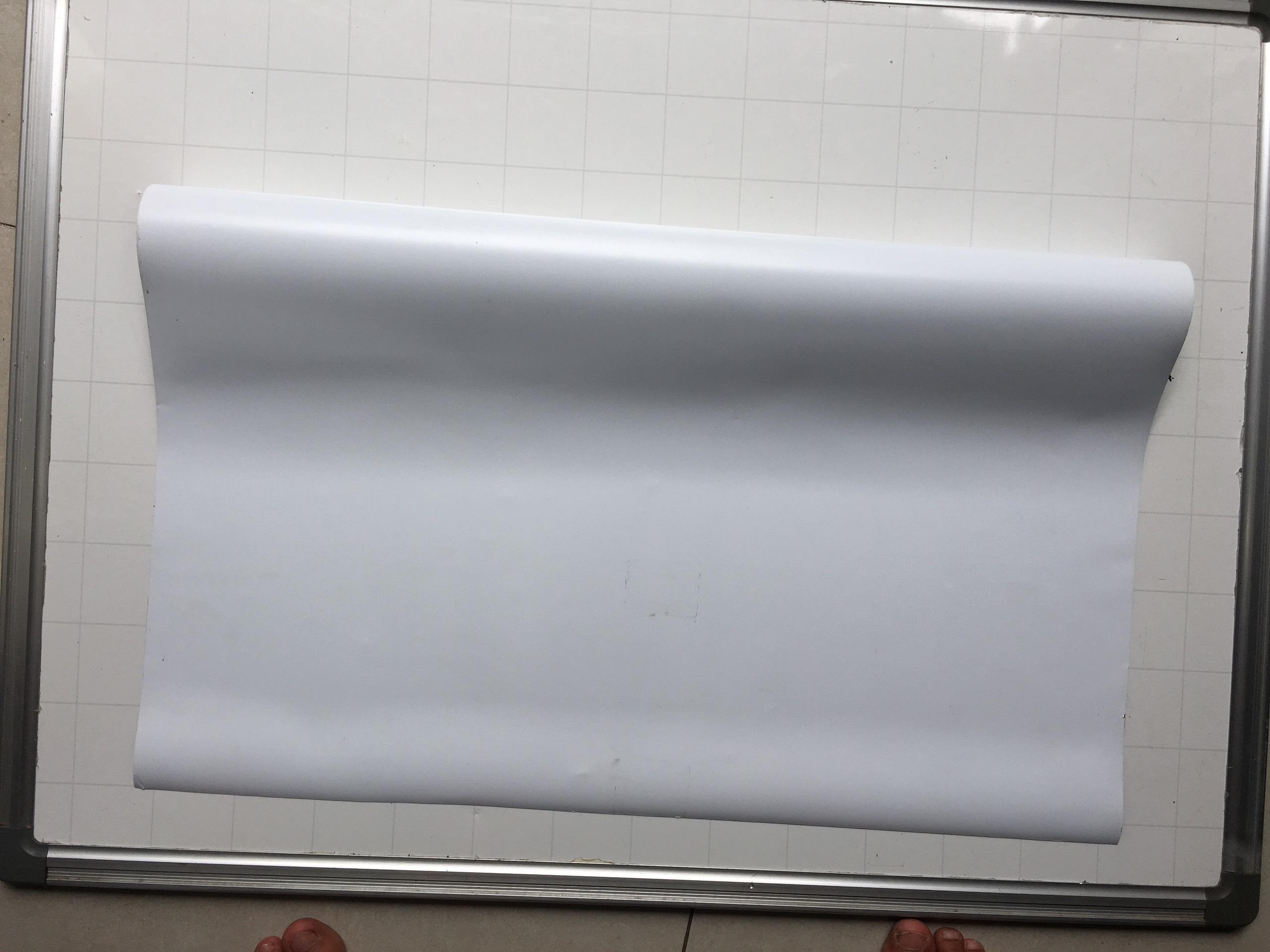 1m x 62cm x 0.5mm nam châm dẻo phủ lớp nhựa PVC trắng