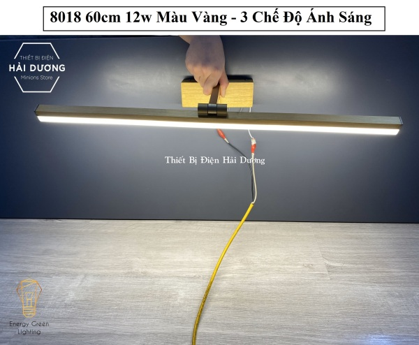 Bảng giá Đèn soi tranh - Đèn rọi gương Led Model 8018 60cm 12w 3 Chế Độ Ánh Sáng - Điều chỉnh được góc chiếu