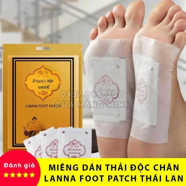 【CỰC RẺ】 Combo 10 Miếng Dán Thải Độc Chân Lanna Foot Patch Thái Lan