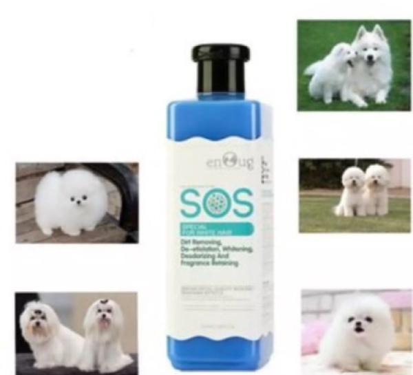 Sữa tắm Sos xanh dương cho chó lông màu trắng 530ml