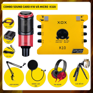 ( PHIÊN BẢN MỚI NHẤT 2021 ) Full Combo Soundcard XOX K10 ( 10th jubilee ) + Micro Thu Âm Takstar PC- K320 Live Stream Karaoke Oneline Tại Nhà Chuyên Nghiệp , Combo Thu Âm + Full Phụ Kiện Phục Vụ Cho Ca Hát Chất Âm Siêu Sáng Chất Lượng Cao thumbnail