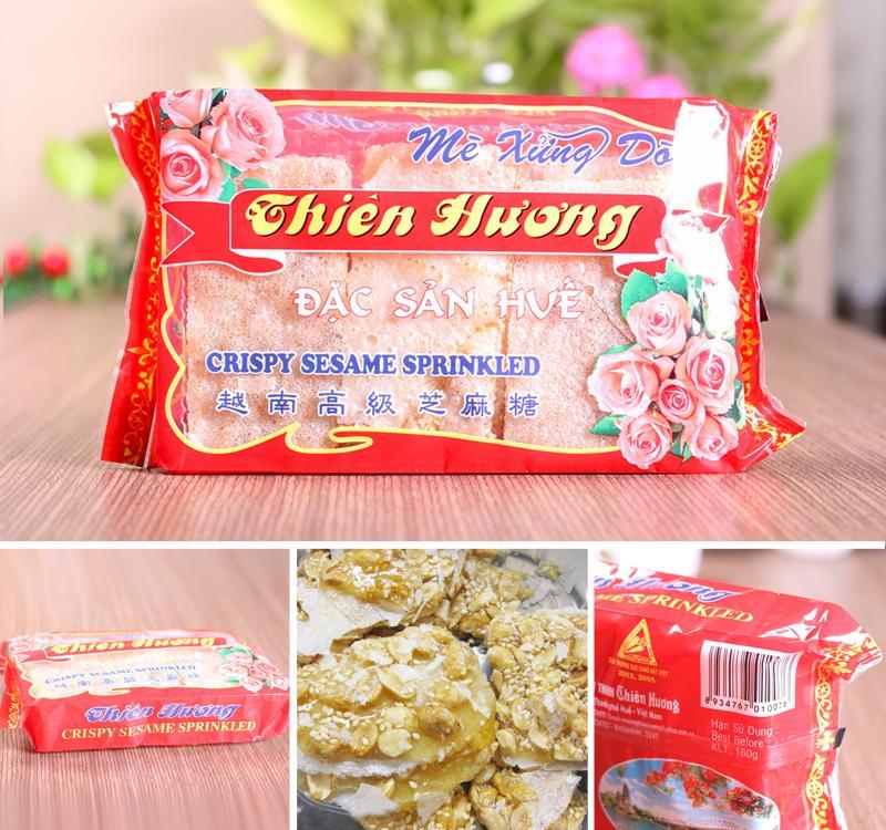 Mè xửng dòn Thiên Hương túi hoa 160gr