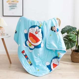 Mền chăn đũi cotton hoạt hình 2 mặt 110cm x 150 thumbnail