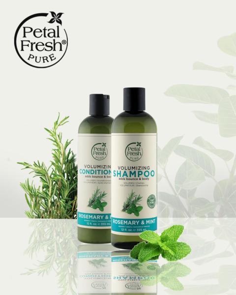 [CHÍNH HÃNG] Dầu xả giảm gãy rụng tóc Hương Thảo & Bạc Hà - Petal Fresh Volumzing Conditioner Rosemary & Mint 355 ml nhập khẩu