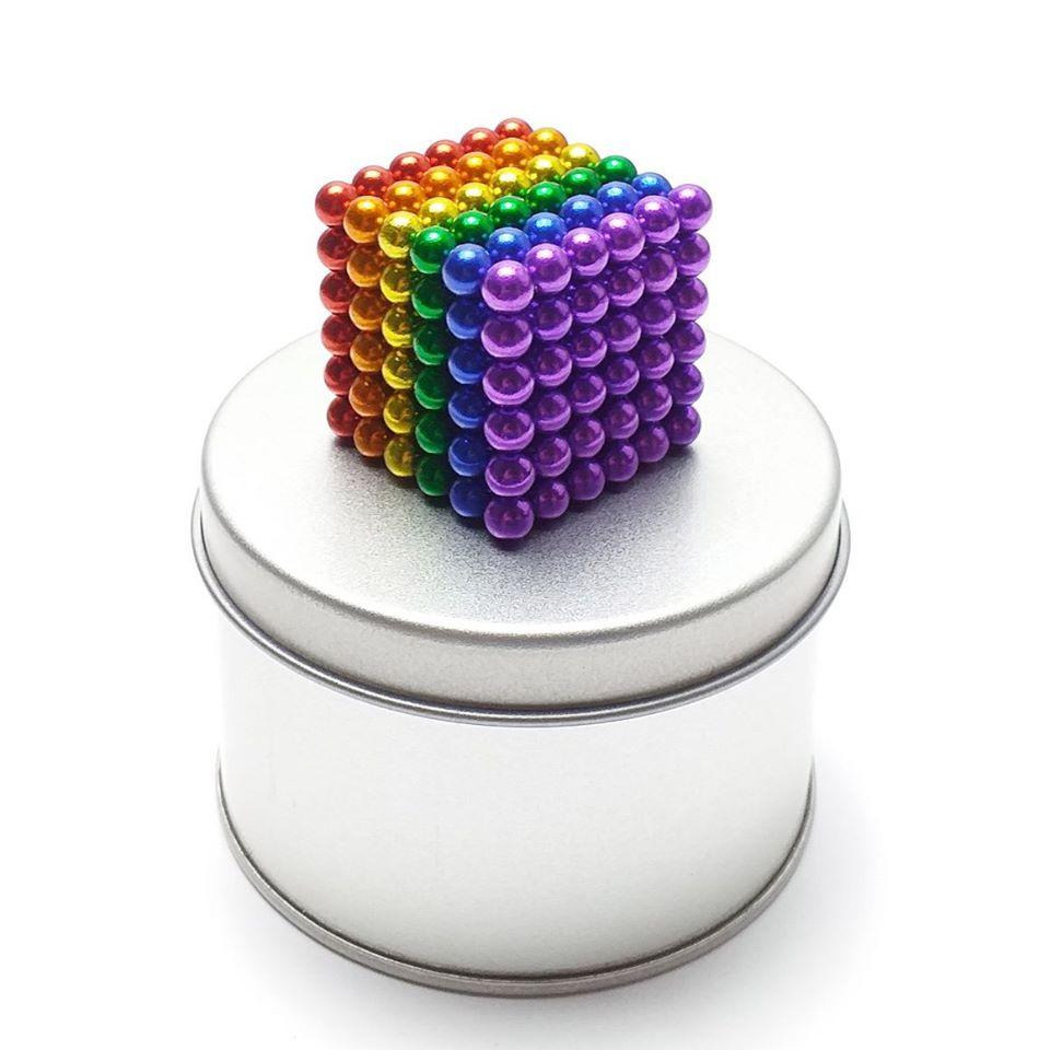 Nam châm xếp hình thông minh nhiều màu  Magcube BukyBalls 216 viên 5mm tròn