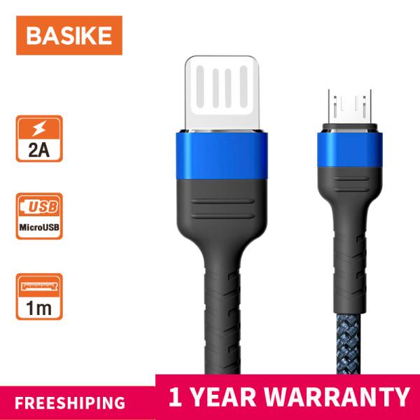 BASIKE Cáp sạc nhanh,Cáp sạc Type-c/Cáp sạc Micro USB/Cáp sạc iphone,Cáp dữ liệu sạc USB nylon cho Xiaomi Redmi OPPO VIVO Huawei Samsung iPhone 4/5/6/6s/7/7s/8/8s(CB05)