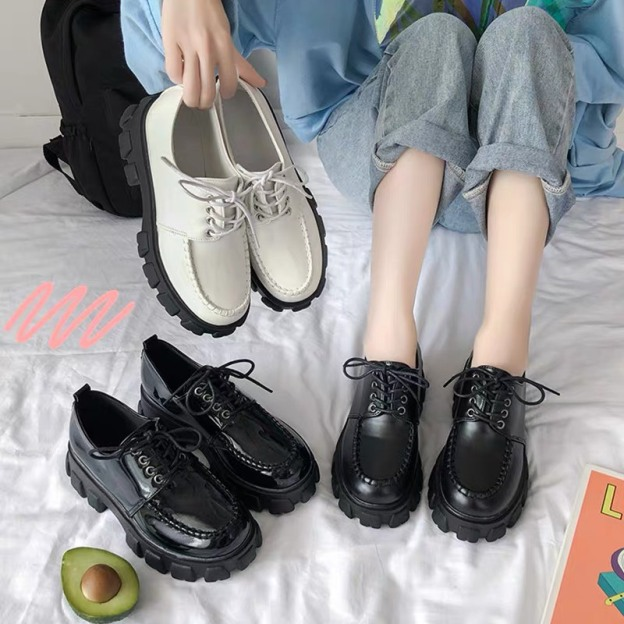 Giày Oxford vitange hàn quốc da mềm hotrend, Giày sneaker nữ thấp cổ hot giá rẻ