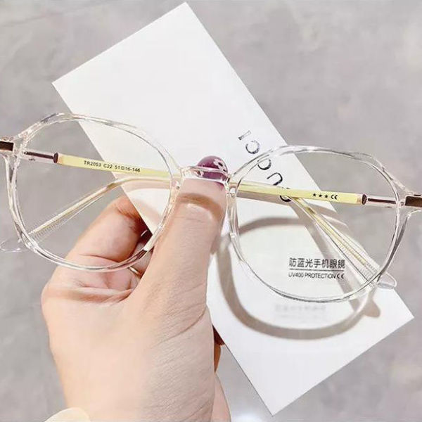 Giá bán Anti-radiation female blue glasses myopia degree can be equipped on ShuWang red students YanPing han fasten element using the big black box