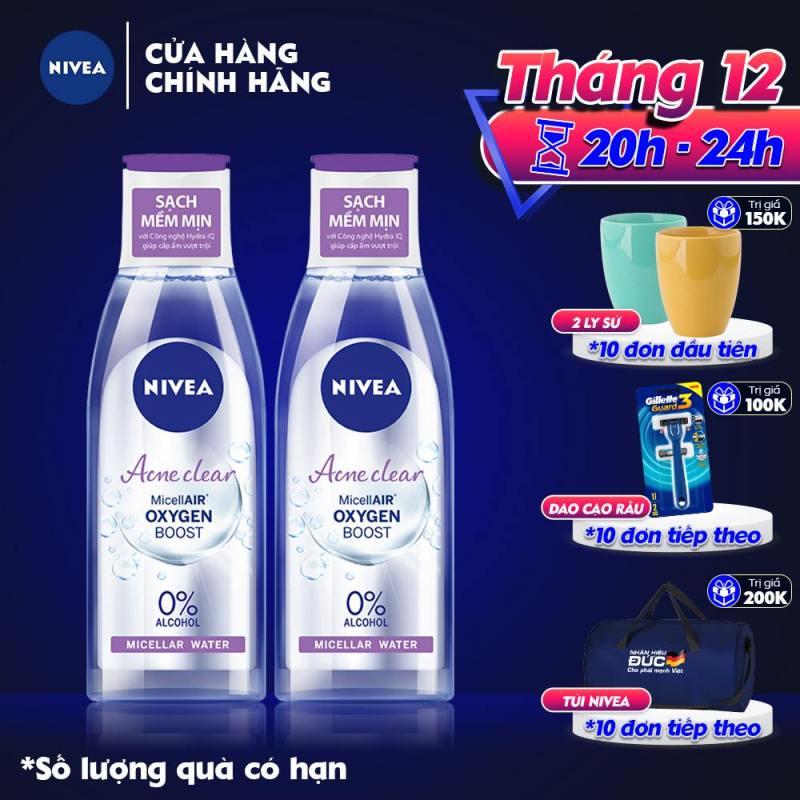 Combo 2 Nước Tẩy Trang Sạch Sâu Ngăn Ngừa Mụn Nivea Micellar Water 200ml - 89271