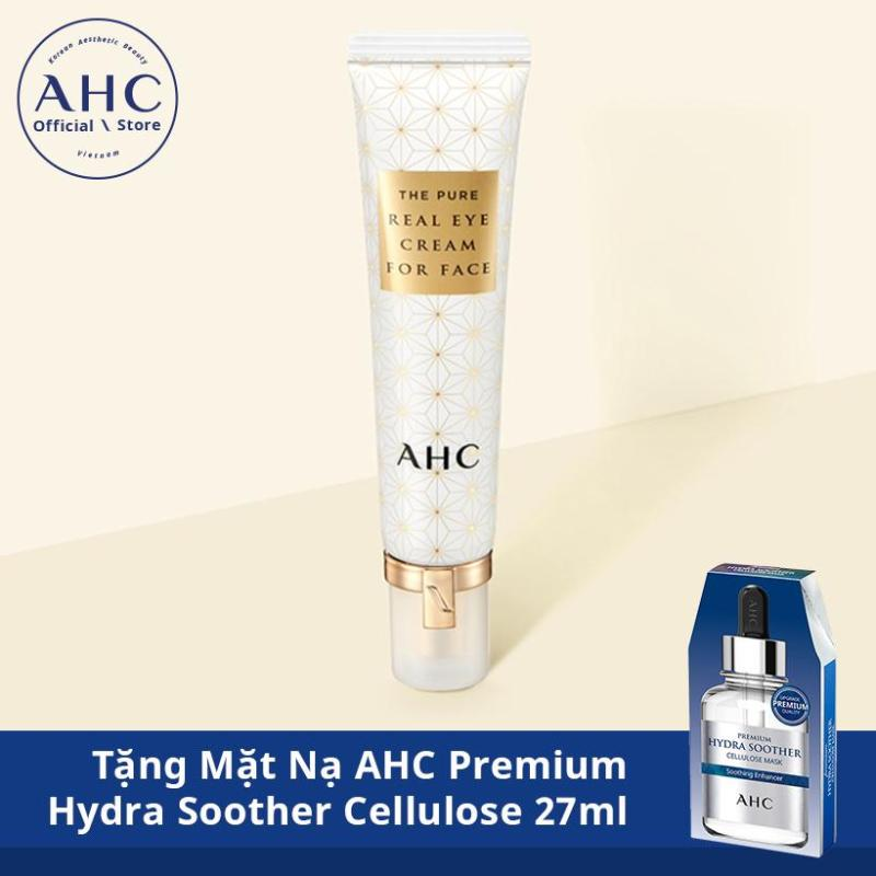 AHC The Pure Real Eye Cream for Face **Season5** 30ml - Gift AHC Premium Hydra Soother Cellulose Mask 27mlx1ea