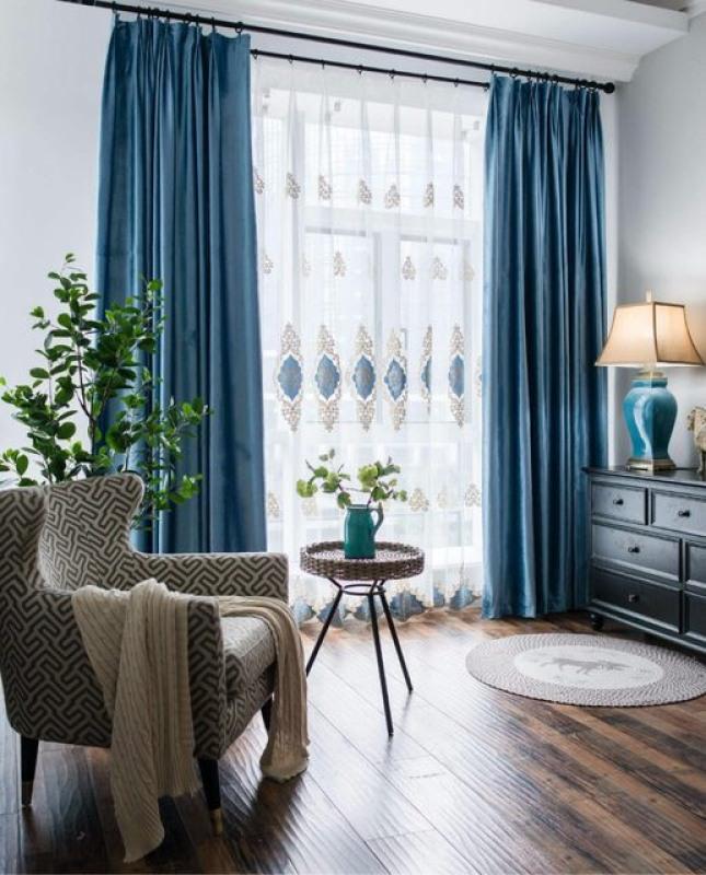 Rèm cửa sổ chống nắng 95%, rộng 1.3m cao 1.8m, rèm may sẵn trang trí phòng khách, phòng ngủ