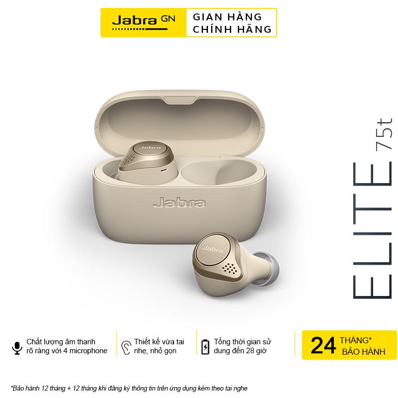 [Voucher + Hỏa Tốc + Trả Góp 0%] Tai Nghe True Wireless Jabra Elite 75T - Hàng Chính Hãng