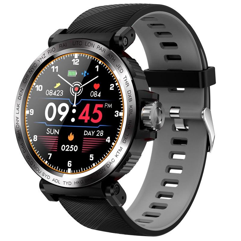 Mã Coupon SENBONO S18 Full Screen Touch Smart Watch IP68 Waterproof Men Sports Clock Heart Rate Monitor Smartwatch For IOS Android Phone