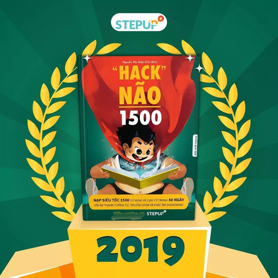 Mua [ BÊN TRONG SÁCH CÓ MÀU ĐẸP ] - Hack Não 1500 Từ Tiếng Anh 2019 - KÈM LINK AUDIO