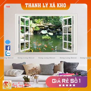 [THANH LÝ XẢ KHO] Tranh dán tường 3d - Tranh 3D Cửa Sổ 144 - Giấy dán tường 3d - Song Long Decor - thumbnail