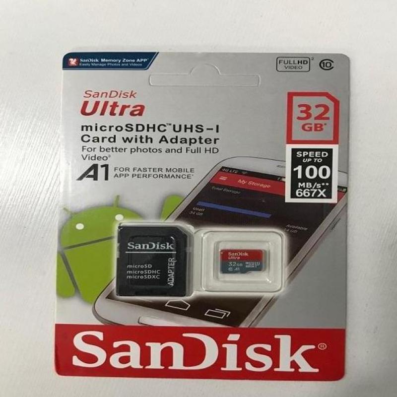 Thẻ nhớ Sandisk 32G - Tặng Adapter [BH 5 năm]