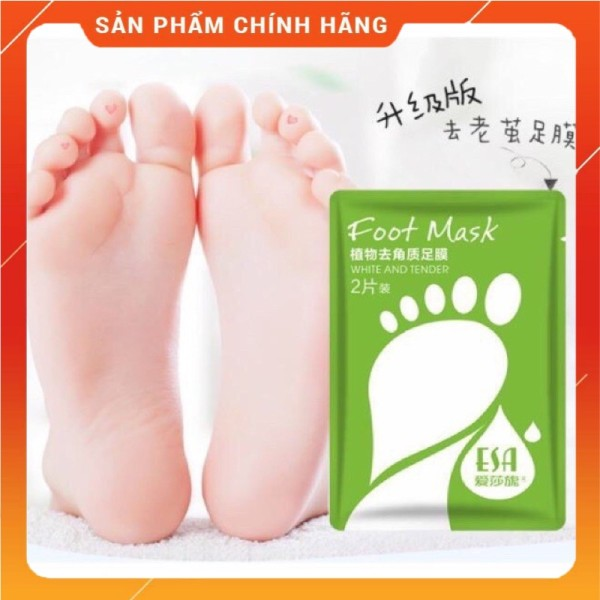 Mặt Nạ Ủ Lột Bàn Chân Foot Mask ESA (bán chạy) Mảng To, Trắng Mịn Da