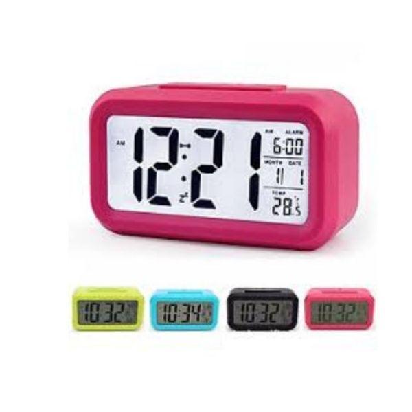 Đồng hồ báo thức điện tử kỹ thuật số để bàn với đèn LED nền cảm biến đa chức năng Loại Tốt