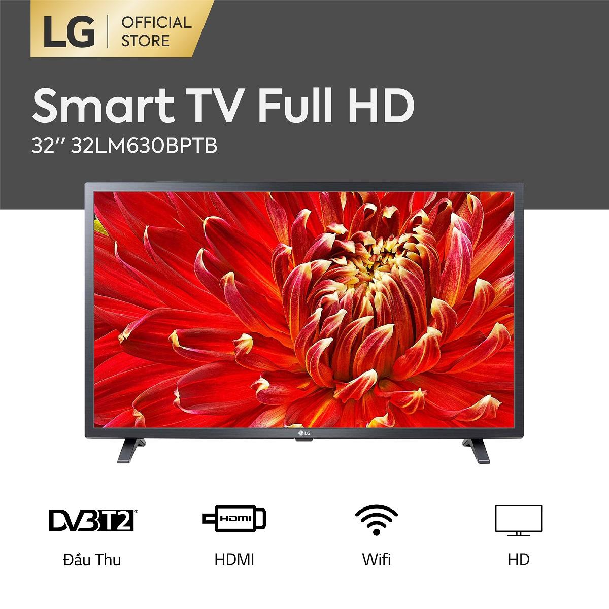Smart TV LG 32inch HD - Model 32LM630BPTB (2019)  Chip Xử Lý Quad Core Active HDR  Dolby Audio - Hãng Phân Phối Chính Thức - Kết Nối Không Dây Với điện Thoại, Máy Tính Bảng Siêu Ưu Đãi tại Lazada