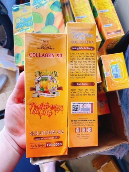 Sữa rửa mặt Nghệ Collagen X3 Đông Anh - Chính hãng 100ml