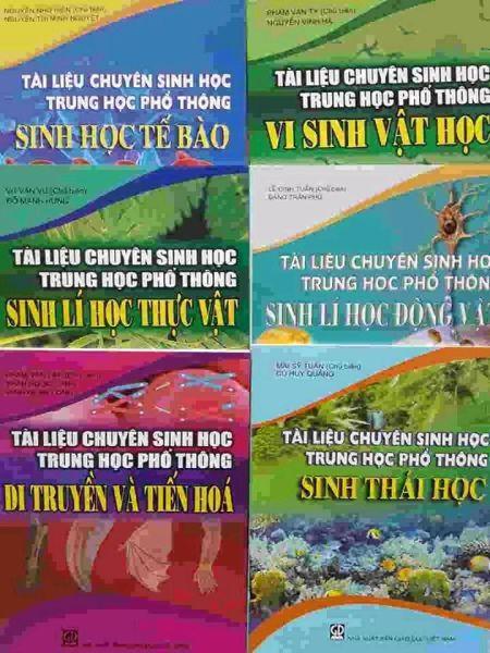 Mua Tài liệu chuyên sinh học THPT bộ 6 cuốn