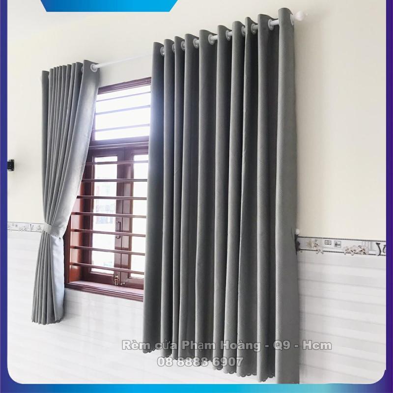 Màn cửa màu xám lông chuột, Ngang Cao tùy chọn, dùng làm rèm cửa chính, rèm cửa sổ, màn cửa chống nắng + tặng dây vén màn trang trí - miasimi hoàng yến