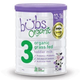 Sữa bò BUBS Organic 800g - số 3 (Hộp) thumbnail