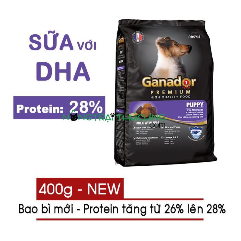 [BAO BÌ MỚI] - Thức ăn hạt cho Chó Con Ganador Puppy gói 400g - [Nông Trại Thú Cưng]