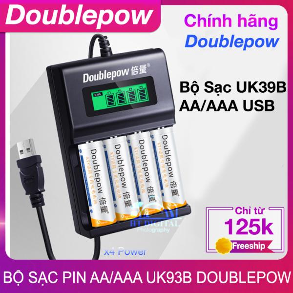Bộ sạc pin tiểu AA AAA Doublepow Uk93b - Dành cho Pin Sạc AA AA cho Mic không dây,máy đo huyết áp,đồ chơi...