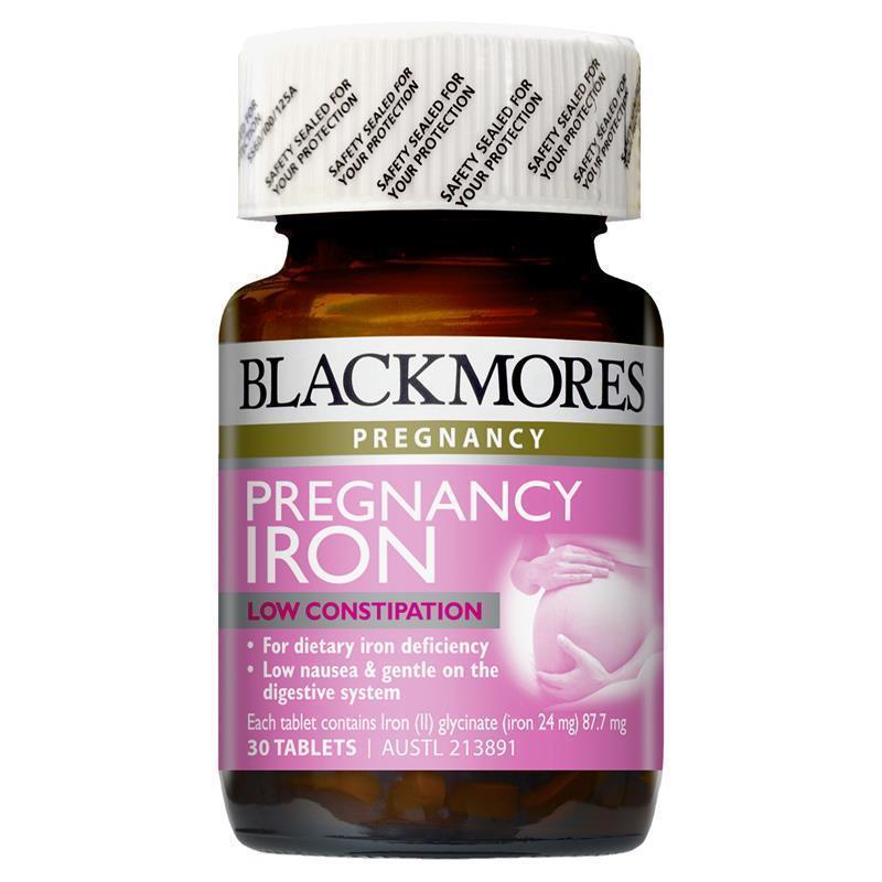 Viên bổ sung Sắt BlackMores Prenancy Iron 30 viên nhập khẩu