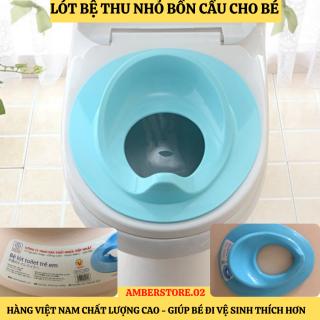 Bệ lót thu nhỏ bồn cầu cho bé tập đi vệ sinh an toàn - Nắp thu nhỏ bồn cầu cho bé - Miếng lót thu nhỏ bồn cầu - Bệ ngồi toilet, bệ ngồi bồn cầu (Màu ngẫu nhiên) - Hàng Việt Nam chất lượng cao - Nhựa Việt Nhật thumbnail