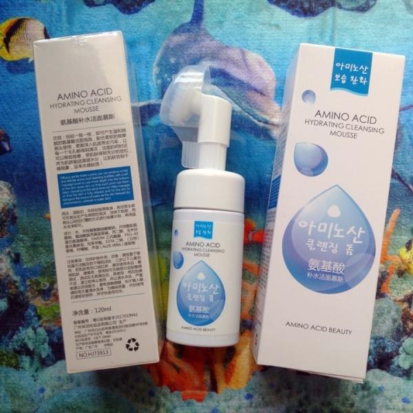 Sửa rửa mặt tẩy trang thải độc kết hợp cọ Amino Acid Đài Trung