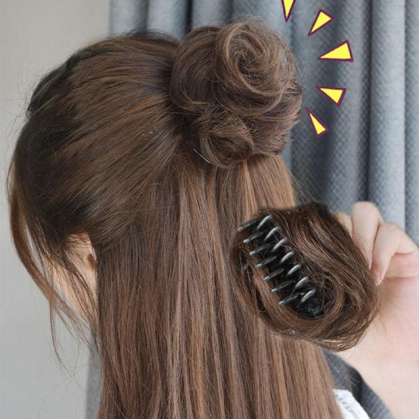 Tóc giả búi tròn mini, búi tròn tóc giả mini B05 nhập khẩu
