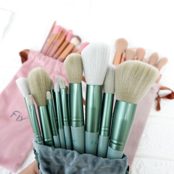 Bộ Cọ Trang Điểm Makeup Fix Set 13 Cây Hàng Nội Địa Trung Quốc Kèm Túi Đựng Bằng Nhung
