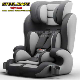 [CHÍNH HÃNG] Ghế ngồi ô tô cho bé STEELMATE an toàn tiện lợi, dây đai chắc chắn, chất liệu thoáng khí tương thích mọi loại xe, điều chỉnh góc độ, đai an toàn, tay cầm giữ bình sữa bình nước cho bé tiện lợi - BH 12 tháng - CAR26 thumbnail