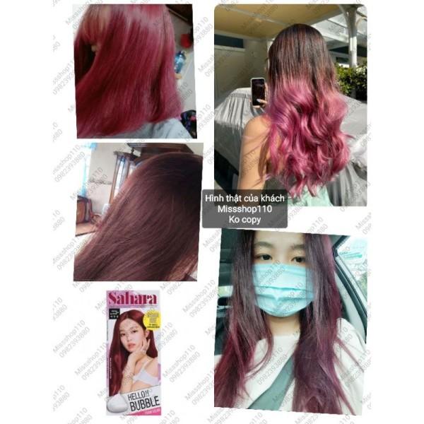 Thuốc nhuộm tóc dạng bọt Hello Bubble BLACKPINK 7P SAHARA ROSE - HỒNG ĐÀO giá rẻ