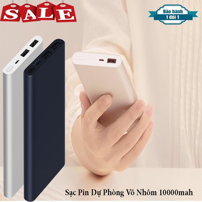 Giá ( Hàng Hót Gía Rẻ-Model 2019 ) Pin dự phòng, Sạc pin dự phòng 10000 mah, Ra hai cổng - Sạc nhanh 2.1A và 1.0A, Tương tích với tất cả thiết bị smartphone trên thị trường hiện nay có đầu sạc là USB, BH 6 Tháng