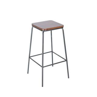 Hot [Xuất Khẩu] Ghế quầy bar cho quán cafe nhà hàng phong cách Âu Mỹ -Ghế đôn tròn chân cao gỗ keo thumbnail