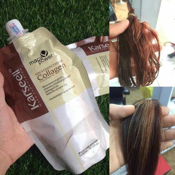 Kem ủ tóc phục hồi hư tổn Karseell Maca Power Collagen 500ml Hấp ủ tóc thẳng mượt bổ xung collagen LOẠI 1 CÓ TEM UT05 giá rẻ