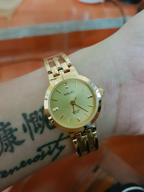 Nơi bán Đồng hồ nữ lắc tay cao cấp thương hiệu halei lên tay cực đẹp mê mẩn luôn