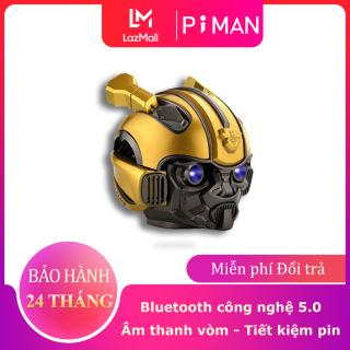Loa Bluetooth Bumblebee Transformer - Bass mạnh Âm thanh vòm cực chất với loa Bluetooth Bumblebee Loa Bluetooth hỗ trợ đọc thẻ nhớ Loa Bluetooth hình đầu Bumble siêu hay Piman P113 thumbnail